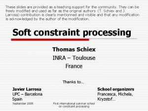 These slides are provided as a teaching support