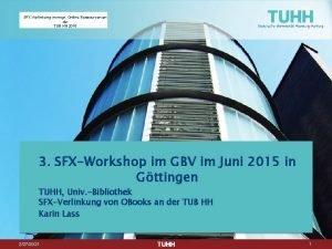 SFXVerlinkung monogr OnlineRessourcen an der TUB HH 2015