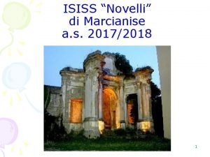 ISISS Novelli di Marcianise a s 20172018 1