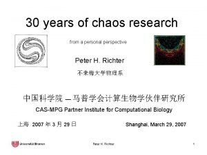 30 years of chaos research from a personal