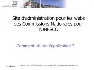Site dadministration pour les webs des Commissions Nationales