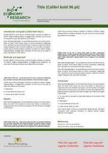 Title Calibri bold 96 pt Authors and affiliation