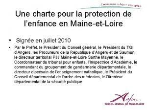 Une charte pour la protection de lenfance en