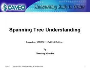 Spanning Tree Understanding Based on IEEE 802 1