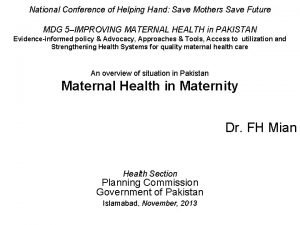 National Conference of Helping Hand Save Mothers Save