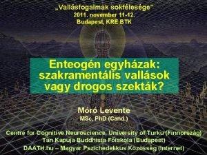 Vallsfogalmak sokflesge 2011 november 11 12 Budapest KRE