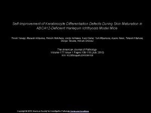 SelfImprovement of Keratinocyte Differentiation Defects During Skin Maturation
