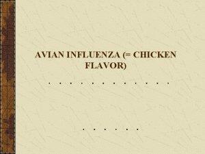 AVIAN INFLUENZA CHICKEN FLAVOR Avian Influenza AI it