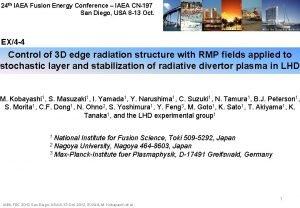 24 th IAEA Fusion Energy Conference IAEA CN197