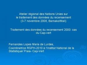 Atelier rgional des Nations Unies sur le traitement