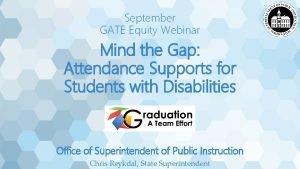 September GATE Equity Webinar Mind the Gap Attendance