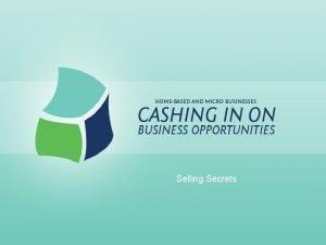 Selling Secrets Selling Secrets Definition of Salesmanship Ability