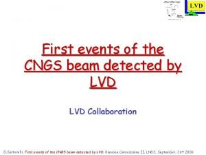 First events of the CNGS beam detected by