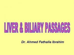 Dr Ahmed Fathalla Ibrahim LIVER LIVER DEFINITION It