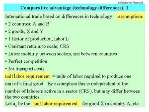 Charles van Marrewijk Comparative advantage technology differences 1