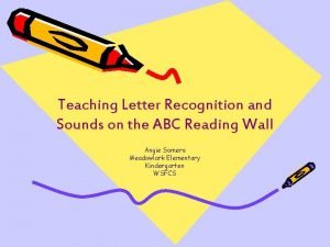 Teaching Letter Recognition and Sounds on the ABC