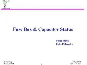Fuse Box Capacitor Status Chiho Wang Duke University