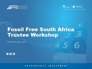 Fossil Free South Africa Trustee Workshop Fiona Reynolds