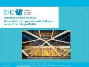 Demandes daide au dcs Elaboration dun guide interdisciplinaire