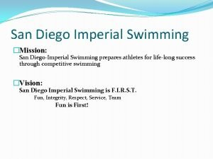 San Diego Imperial Swimming Mission San DiegoImperial Swimming