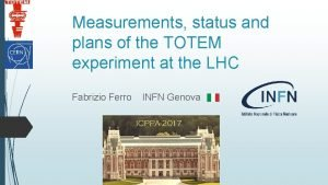 Measurements status and plans of the TOTEM experiment