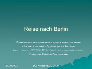 Berlin ist die Hauptstadt der Bundesrepublik Deutschland Berlin