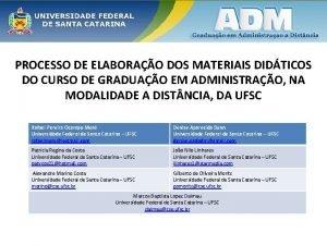 PROCESSO DE ELABORAO DOS MATERIAIS DIDTICOS DO CURSO