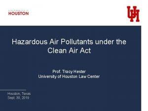 Hazardous Air Pollutants under the Clean Air Act