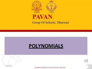 POLYNOMIALS 2282021 1 POLYNOMIALS Factorise 1 4 x