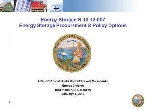 Energy Storage R 10 12 007 Energy Storage