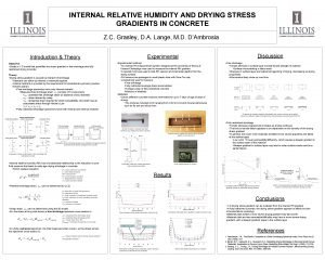 INTERNAL RELATIVE HUMIDITY AND DRYING STRESS GRADIENTS IN