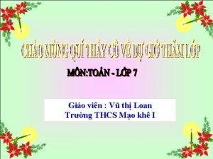 Gio vin V th Loan Trng THCS Mo