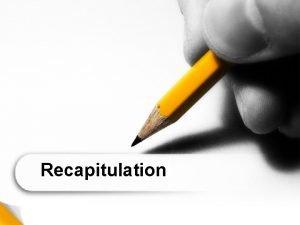 Recapitulation Phonetics and Phonology Main differences between phonetics