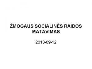 MOGAUS SOCIALINS RAIDOS MATAVIMAS 2013 09 12 mogaus