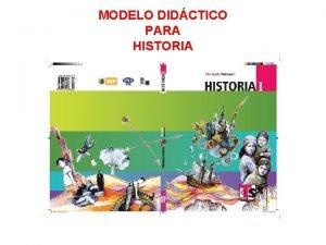 MODELO DIDCTICO PARA HISTORIA UNIDADES DIDCTICAS Unidades de