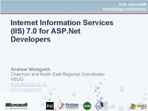 Internet Information Services IIS 7 0 for ASP