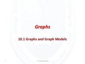Graphs 10 1 Graphs and Graph Models 1