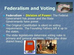 Federalism and Voting n n n Federalism Division