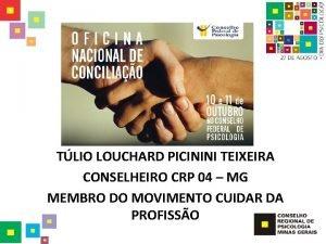 TLIO LOUCHARD PICININI TEIXEIRA CONSELHEIRO CRP 04 MG