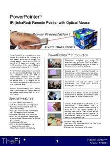 Power Pointer TM IR Infra Red Remote Pointer