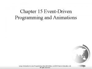 Chapter 15 EventDriven Programming and Animations Liang Introduction