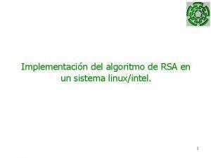 Implementacin del algoritmo de RSA en un sistema