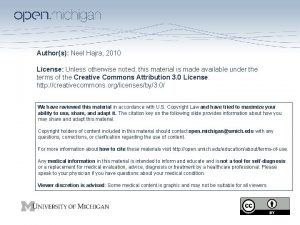 Authors Neel Hajra 2010 License Unless otherwise noted
