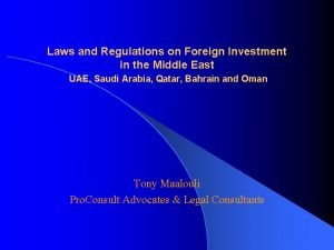 Laws and Regulations on Foreign Investment in the