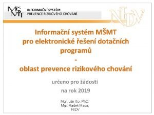 Informan systm MMT pro elektronick een dotanch program