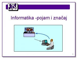 Informatika pojam i znaaj 1 Informatikapojam i znaaj