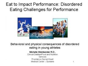 Eat to Impact Performance Disordered Eating Challenges for