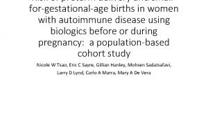 Risk of preterm delivery and smallforgestationalage births in