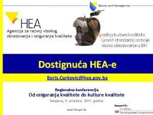 Bosnia and Herzegovina Agencija za razvoj visokog obrazovanja