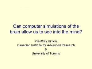 Can computer simulations of the brain allow us